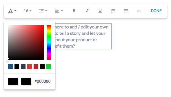 How Do I Change The Color Of Text Shapes Or Backgrounds Instapage Help Center