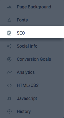SEO settings – Instapage Help Center