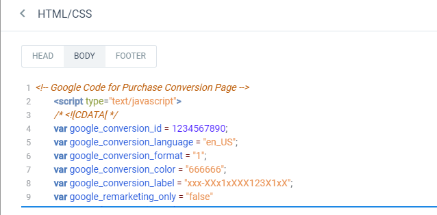 How do I add Ads Conversion Tracking to my pages