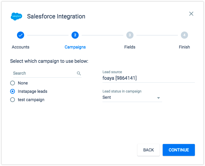 Integrating with Salesforce CRM – Instapage Help Center