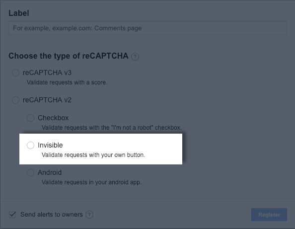 Invisible reCAPTCHA – Instapage Help Center