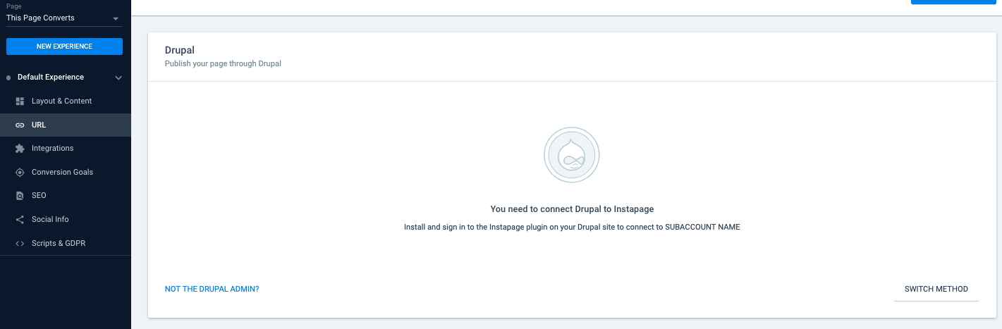 Publishing Your Page to Drupal – Instapage Help Center