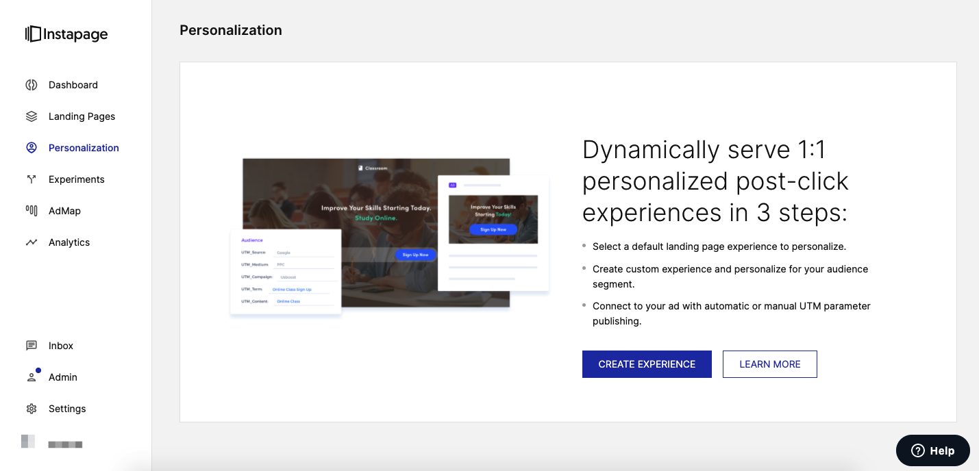 image of personalization screen